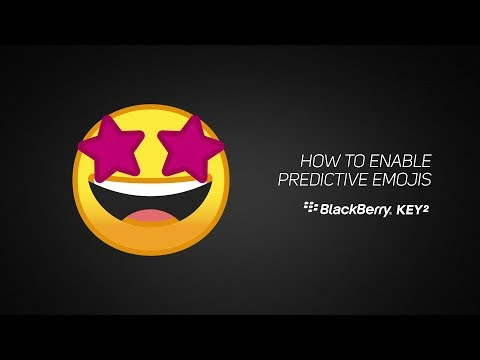 How To Enable Predictive Emoji On The BlackBerry KEY2 Keyboard
