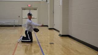 Baseball Wall Drill (close)