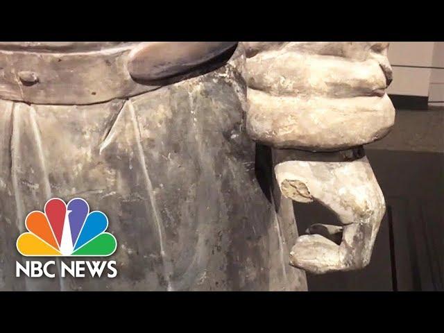 Terra-Cotta Warrior's Thumb Broken And Stolen From Display In Philadelphia | NBC News