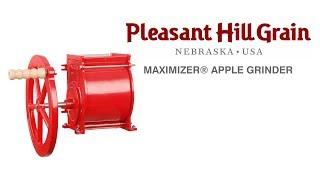 Maximizer apple grinder demonstration