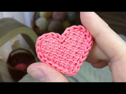 Аппликация сердечко крючком схема