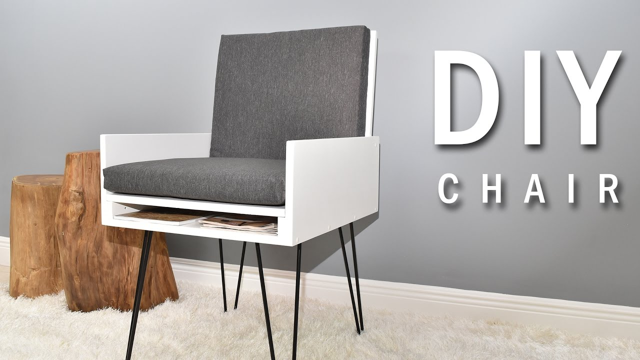 DIY Chair with secret compartment (Plans Available) - YouTube