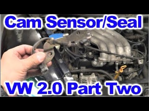 How to replace Cam Sensor and Camshaft Seal on VW 2.0 L Part 2