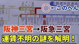 【検証】阪神三宮から阪急三宮まで乗車するとどうなる?【神戸高速経由】