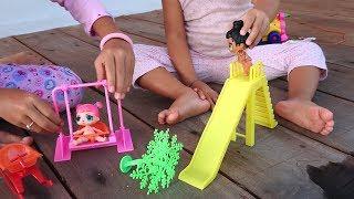 Menemani Adik Shanti Bermain Boneka LOL dan Belajar Bahasa Inggris - Kereta Api Mainan Anak