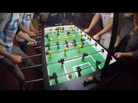 Chase Pennell and Mike Billirakis vs Ryan Moore and Mary Moore (Halloween Foosball Open 2017)