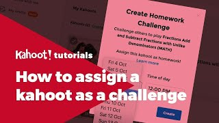 How to assign Kahoot! challenges for self-paced learning