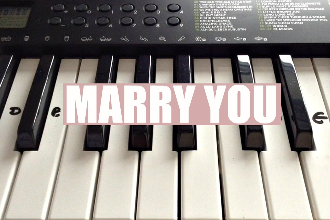 Marry You Bruno Mars Easy Keyboard Tutorial With Notes Right