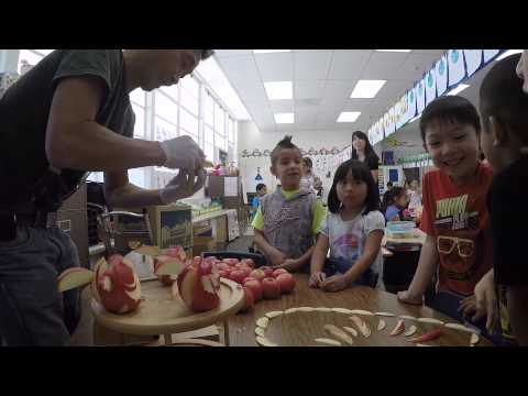 The Apple Man visit at the Sunny side school,  Garden Grove