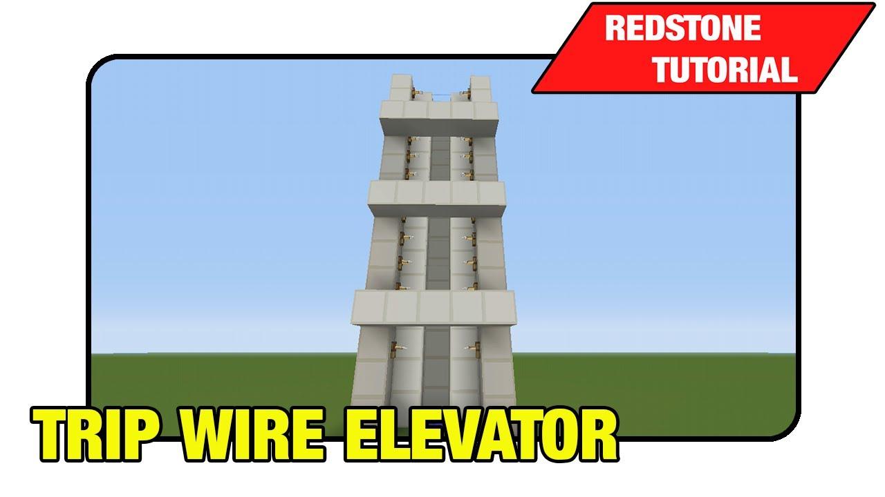 Building Built With No Elevator : Trip wire elevator quot tutorial minecraft xbox ps tu