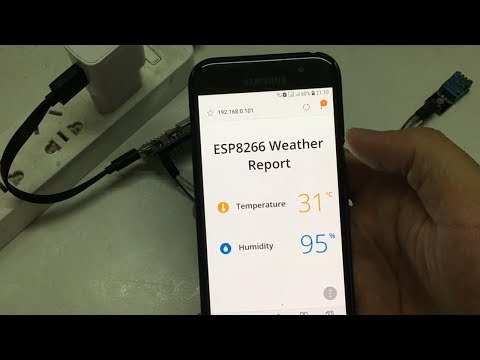 Temperature monitor via Webserver with ESP8266 NodeMCU DHT11