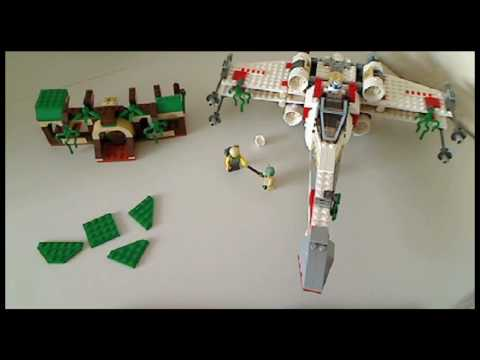 Building the LEGO 4502 Dagobah X-wing Fighter - YouTube