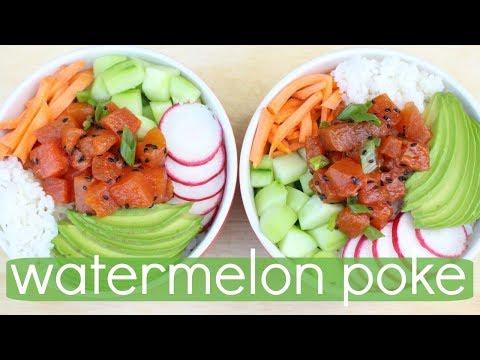 "Vegan Watermelon ""Tuna"" Poke"