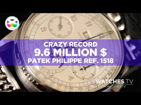 9.6 Mio Swiss Francs Record As If You Were There: Patek Philippe Ref. 1518