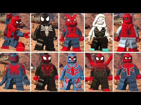 LEGO Marvel Super Heroes 2 - All Spider-Man Characters (+ Similar Characters)