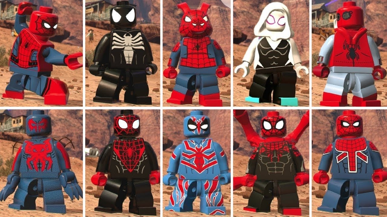 Lego marvel super heroes 2 all spider man characters - Lego spiderman 2 ...