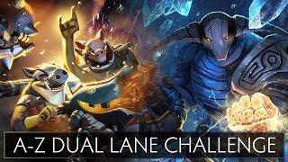Dota 2 A-Z Dual Lane Challenge - Sven and Techies