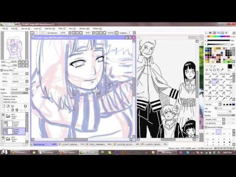 Naruto and Hinata Speedpaint