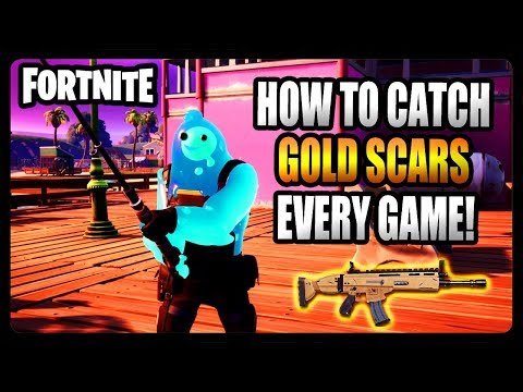 How To Catch GOLD Scars EVERY GAME With A Fishing Pole In Fortnite Chapter 2! (Fortnite Chapter 2)