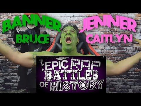 Bruce Banner v Bruce Jenner.  Epic Rap Battle of History REACTION!!!