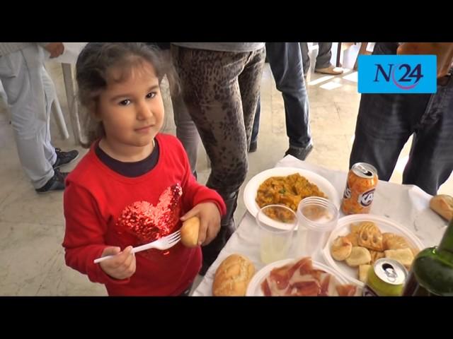 Reportaje de Noticias 24 sobre el encuentro navideño de la Policía Nacional de Vélez-Málaga