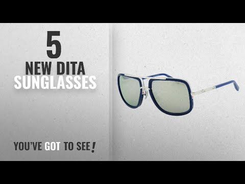Top 10 Dita Sunglasses [ Winter 2018 ]: Dita Mach One Sunglasses DRX-2030J Titanium Blue / Silver
