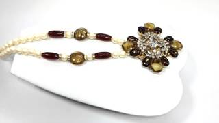 Vrba Maltese Cross And Pearl Necklace
