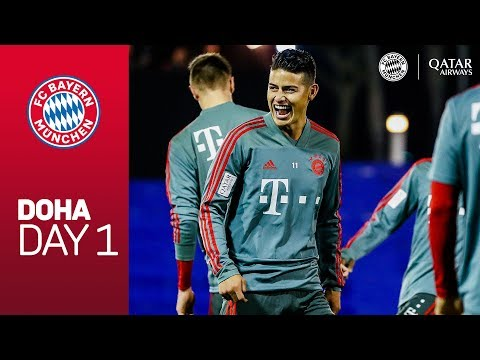 FC Bayern arrive at Training Camp | Doha - Day 1