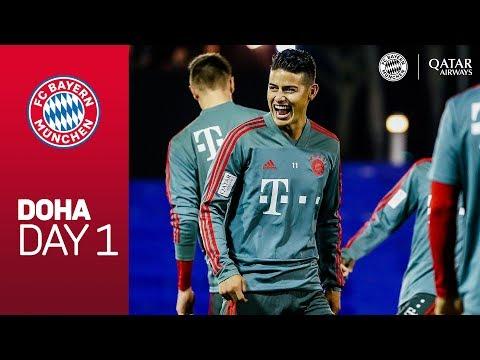 FC Bayern arrive at Training Camp | Doha - Day 1