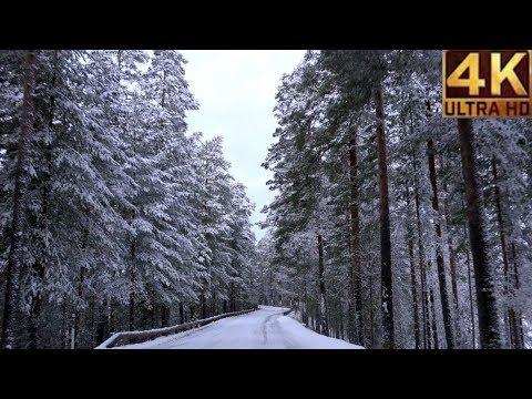 FINLAND Winter road trip - beautiful snowy scenery 4K ULTRA HD