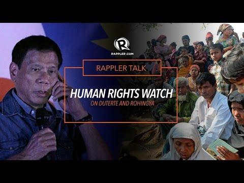 Rappler Talk: Human Rights Watch on Duterte and Rohingya