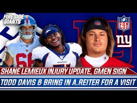 New York Giants Sign Todd Davis, Bring Austin Reiter in For a Visit | Shane Lemieux Injury Update