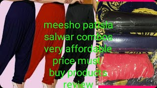 Meesho Patiala salwar three piece combos review online shopping very affordable price
