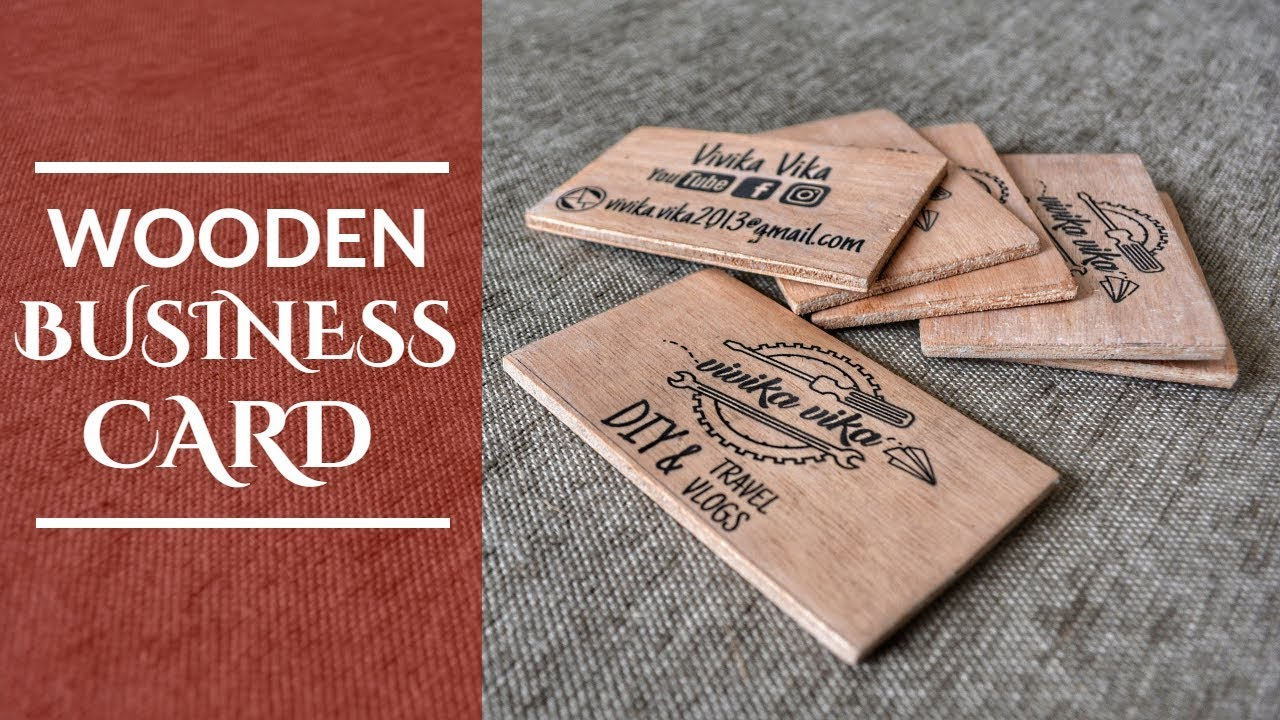 Wooden Business Card (English Subtitles) - YouTube