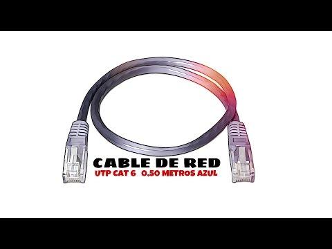 Video de Cable de red UTP CAT6 0.50 M Azul