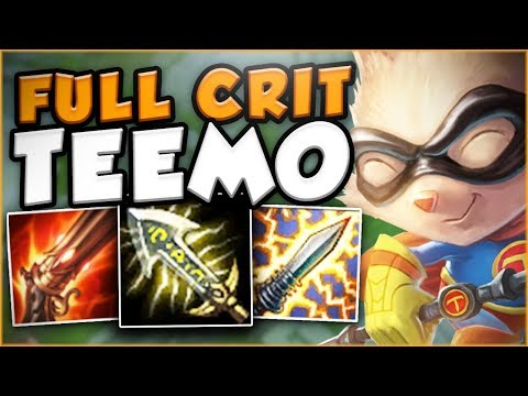 Download Youtube: HOW TROLL IS THIS NEW CRIT TEEMO BUILD?? NEW FULL CRIT TEEMO TOP GAMEPLAY! - League of Legends