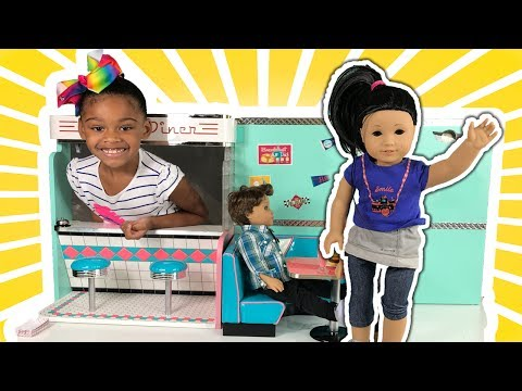 AG Dolls Play - Food &  Restaurant Diner First Date PlayToys Baby Doll Pretend Play