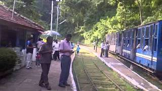 Nilgiri Mountain Railway - Ooty Train - Hillgrove Station - The Steam Engine fills up on water