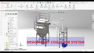 dust collector system design SOLIDWORKS