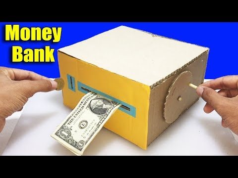 How to Make Personal Bank Saving Coin and Cash DIY at Home