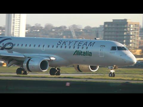Plane Spotting at London City Airport (Inc. Alitalia Skyteam)