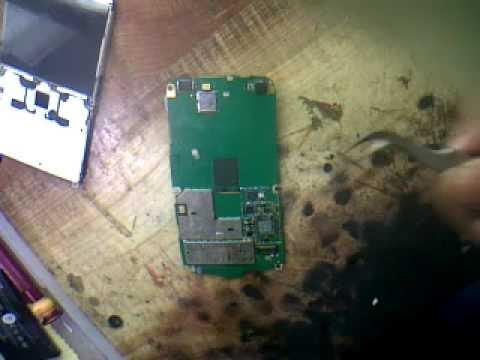 nokia e72 power ic change without reballing by rizwan sayyed