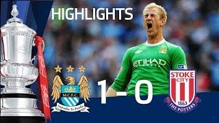 Download Video Manchester City 1 - 0 Stoke City | Official Highlights The FA Cup Final 2011 14/05/11 MP3 3GP MP4