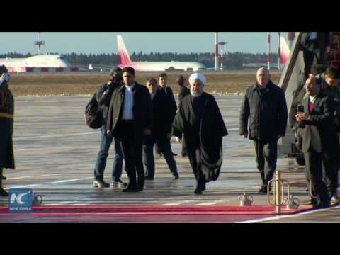 Iran's President Hassan Rouhani arrives in Moscow
