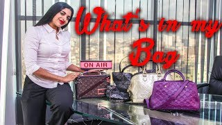 I shower in my office Rj Tazz | What's in My Bag | Part 1