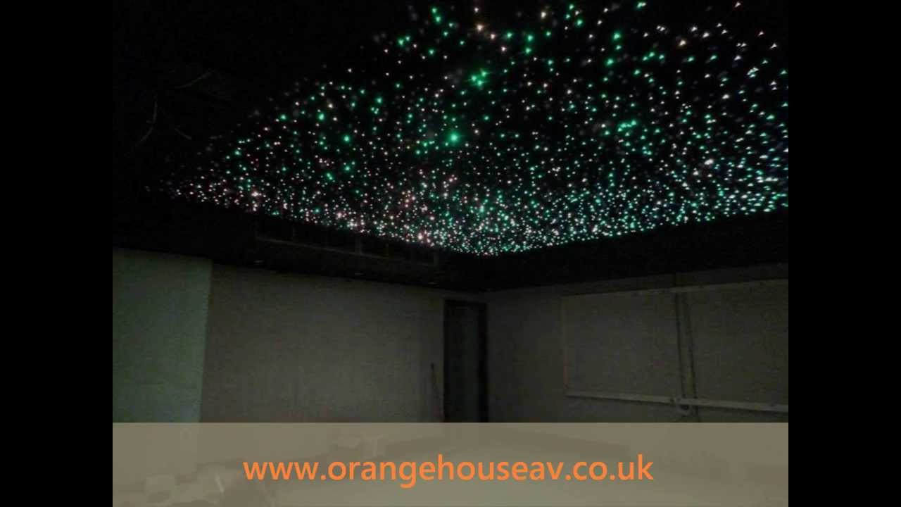 Fibre Optic Star Ceiling - YouTube