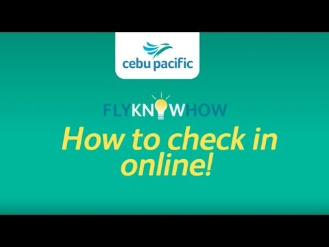 Web, Mobile Check-In Options | Cebu Pacific Air