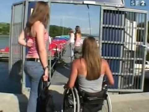 Young sexy girl in wheelchair athletes