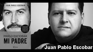 Juan Pablo Escobar speaks at the Kristiansand Library