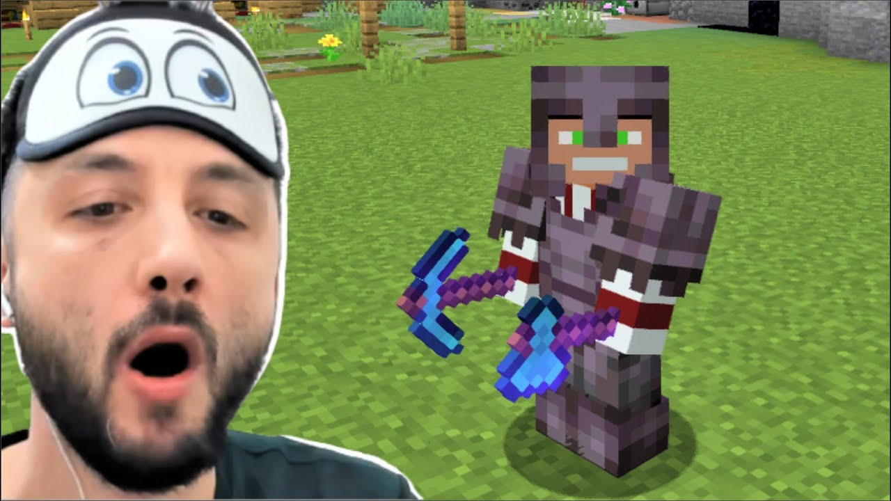 15 Dakikada NETHERİTE SET OLDUM 😎 Minecraft Tek Hardcore 3.Bölüm